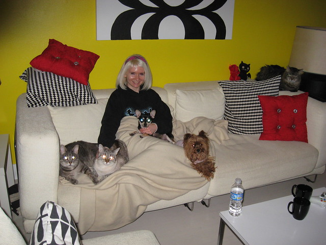 My pets & Me on the couch - Dec 09