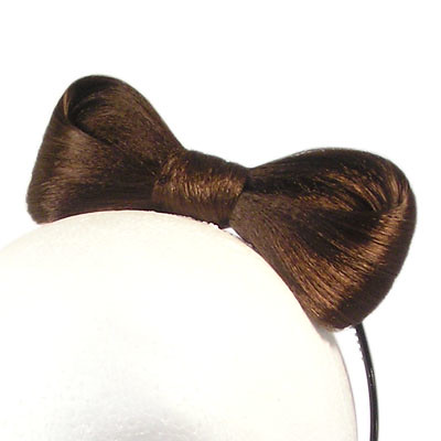 lady gaga hair bow headband. Dark Brown Hair Bow Like Lady