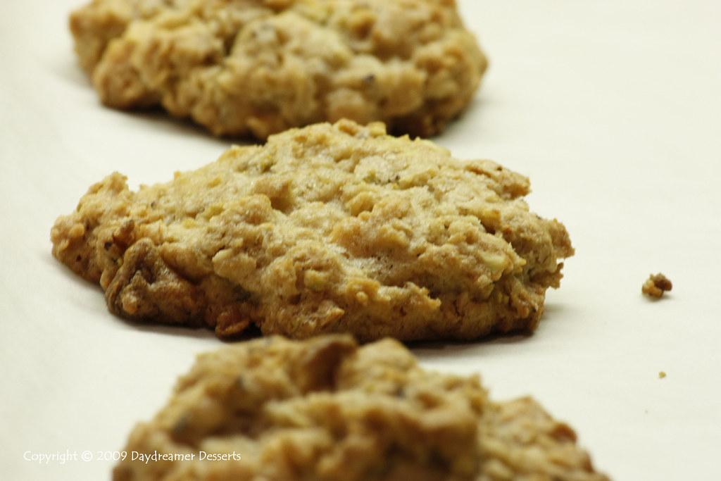 Oatmeal White Chocolate-Pistachio Cookies