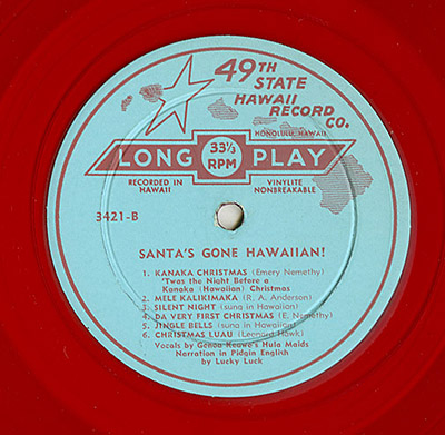 Santa's Gone Hawaiian LP_tatteredandlost