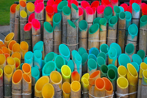 colored bamboo