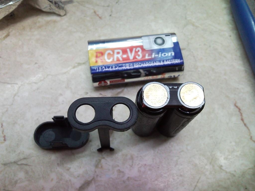 RCR-V3電池改造for k-x