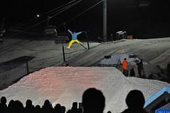spread eagle test jump (couloir) Tags: whistler snowboarding nikon freestyle skiing pyro fireandice d90