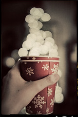 I'll have a cup of bokeh, please! (Samantha Decker) Tags: snowflake christmas tree cup photoshop canon vintage eos rebel lights bokeh f14 sigma adobe dslr postprocess cs4 30mm 500d digitalsinglelensreflex samanthadecker t1i