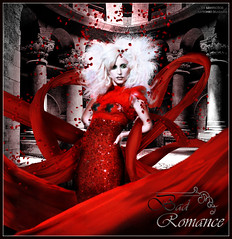 Lady Gaga - Bad Romance (Antonio Magaa) Tags: red girl monster de crazy high rojo dress fame bad free rosa romance freak bitch caught couture churche vestido gaga gossip magia tela petalos
