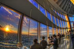 Last Sunset in Tokyo (/\ltus) Tags: sunset japan tokyo pentax handheld roppongi moribuilding roppongihills hdr wideanglelens k7 tokyocityview 5xp japanhdr december312009 lastsunsetof2009 httpwwwroppongihillscomtcven