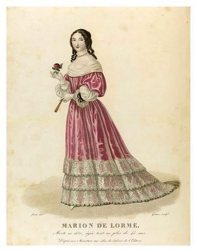012-Marion de Lorme-Galerie Française de femmes célèbres 1827- Louis Marie Lanté