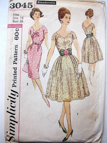 Vintage Simplicity 3045 Slenderette Dress