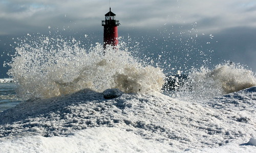 Kenosha's North Pier Lighthouse