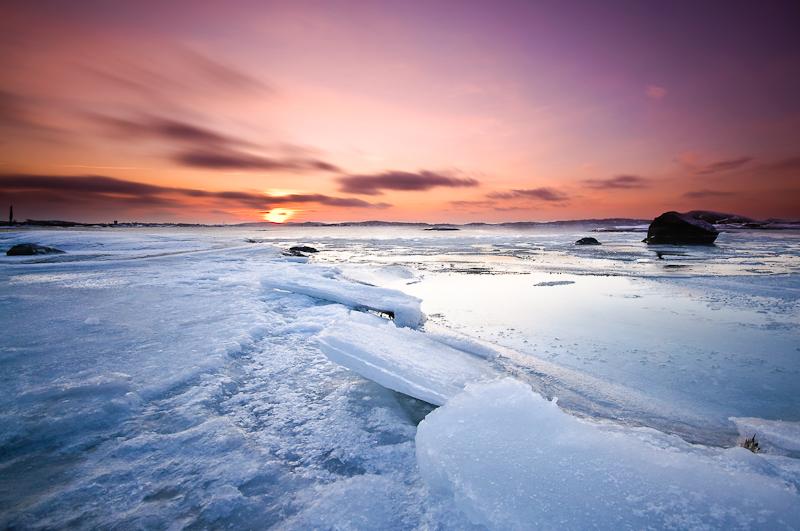 L'eau gelée