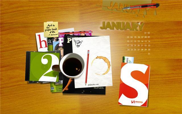 2010년 1월 배경화면