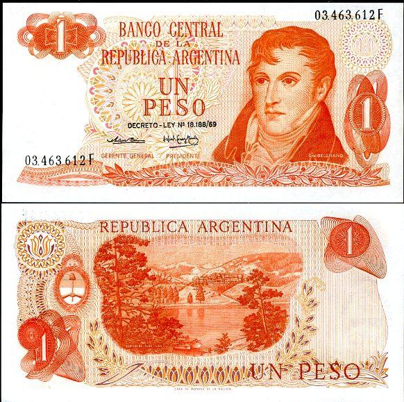 ARGENTÍNA 1 PESO 1974 P 293