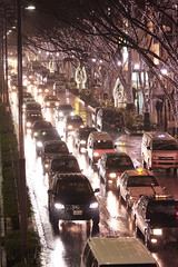 at Omotesando (naoyafujii) Tags: street light reflection rain tokyo illumination harajuku  omotesando       eos40d