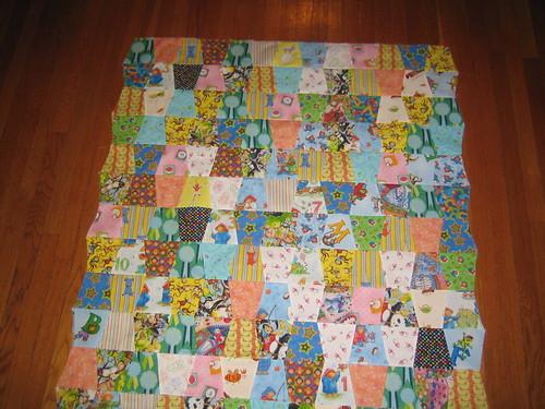 Baby quilt overhead