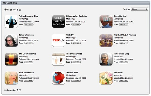Steve Garfield iPhone App - iTunes MotherApp Listing