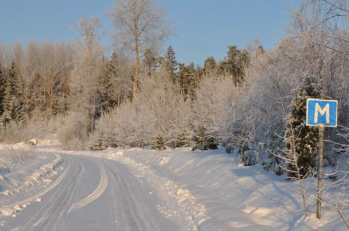 Vägmärke - Vinter i Andra