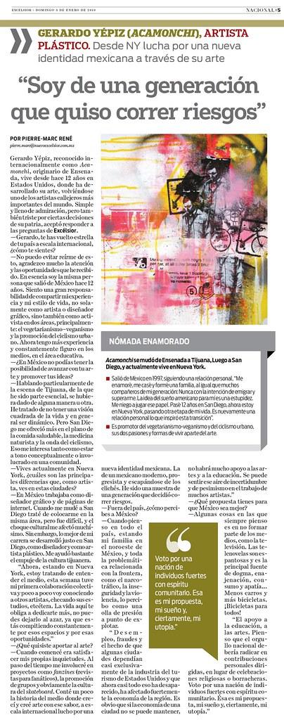 Excelsior entrevista Acamonchi Mexico DF