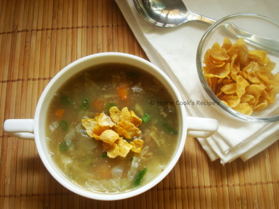 Vegetable Soup with Cornflakes
