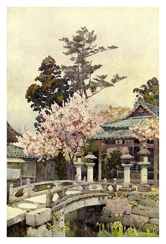 007- Un santuario en Kiomidzu-The flowers and gardens of Japan (1908)-  Ella Du Cane