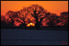 Sunset And Snow 04 (Kirk09) Tags: uk ireland sunset england orange sun snow west colour silhouette yellow set wales scotland europe shine cheshire bright snowy united east crewe souther and colourful shiney northern blizzard kindom smallwood sandbach