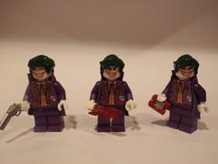 Different Jokers together! (John_0515) Tags: lego batman joker brickarms