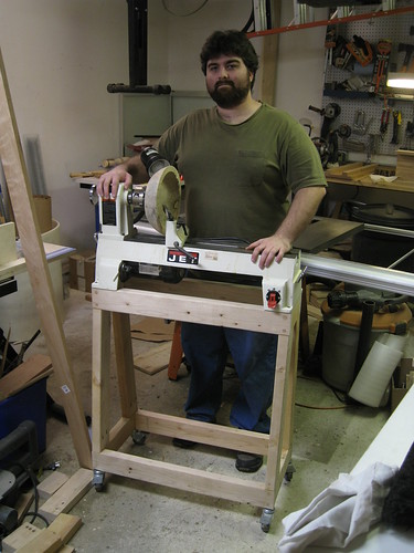 me with new lathe stand height