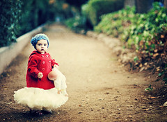 Litte Red Coat... (Shana Rae {Florabella Collection}) Tags: portrait baby girl vintage cosmopolitan model babydoll dirtroad pettiskirt redcoat bluehat shanarae florabellatextures florabellaaction setiifriday