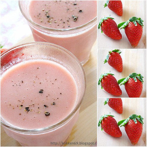 Strawberry Lassi Collage