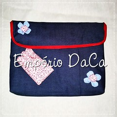 Capa de Notebook Red Jeans (emporiodaca) Tags: notebook handmade artesanato notebookbag capadenotebook empriodaca
