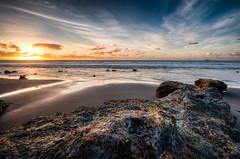 The Rocks of Back Beach #6 (Mark Solly (F-StopNinja)) Tags: sunset sea beach rock clouds back sand rocks warm shoreline shore volcanic alto tidal zone stratus taranaki newplymouth sigma1020mm explored nikond90 marksolly