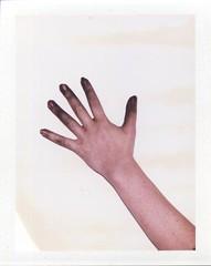 Black Finger (Luke Stephenson) Tags: black paint hand finger fingers spray