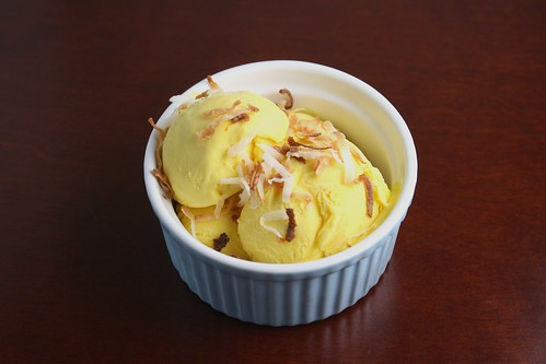 Coconut Ice Cream with Saffron