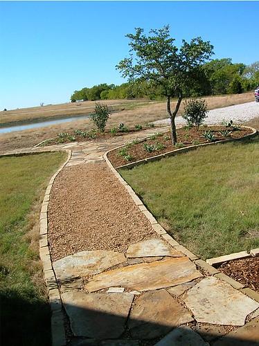 Frontyard landscaping grass