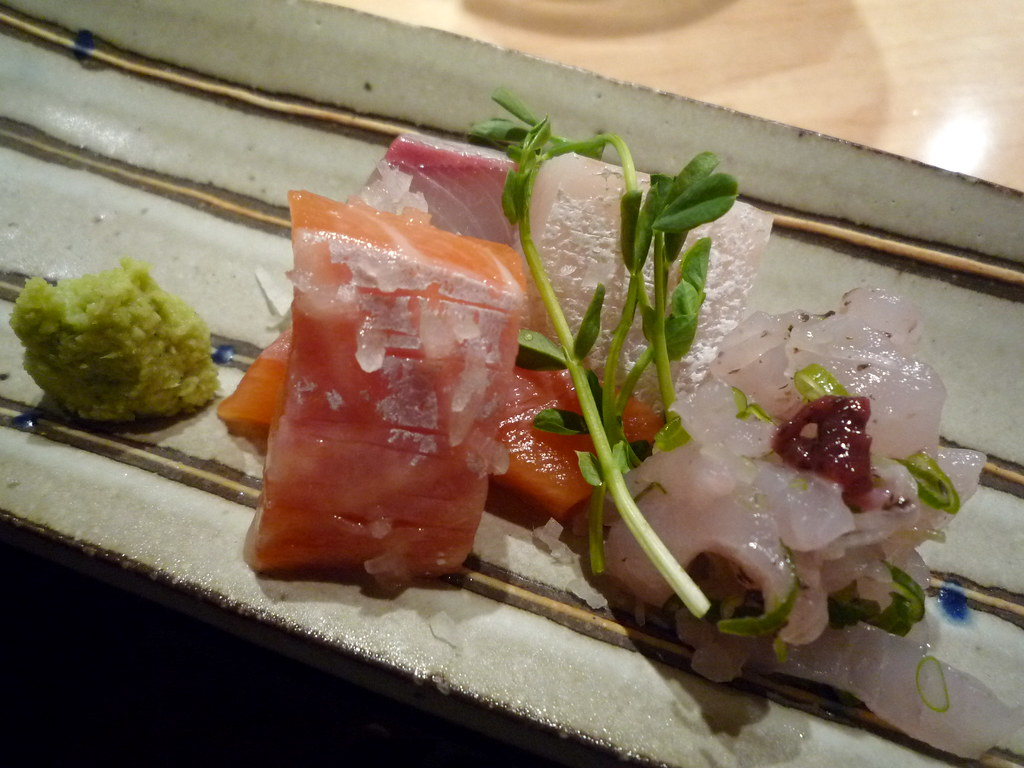 Ocean trout and kingfish sashim