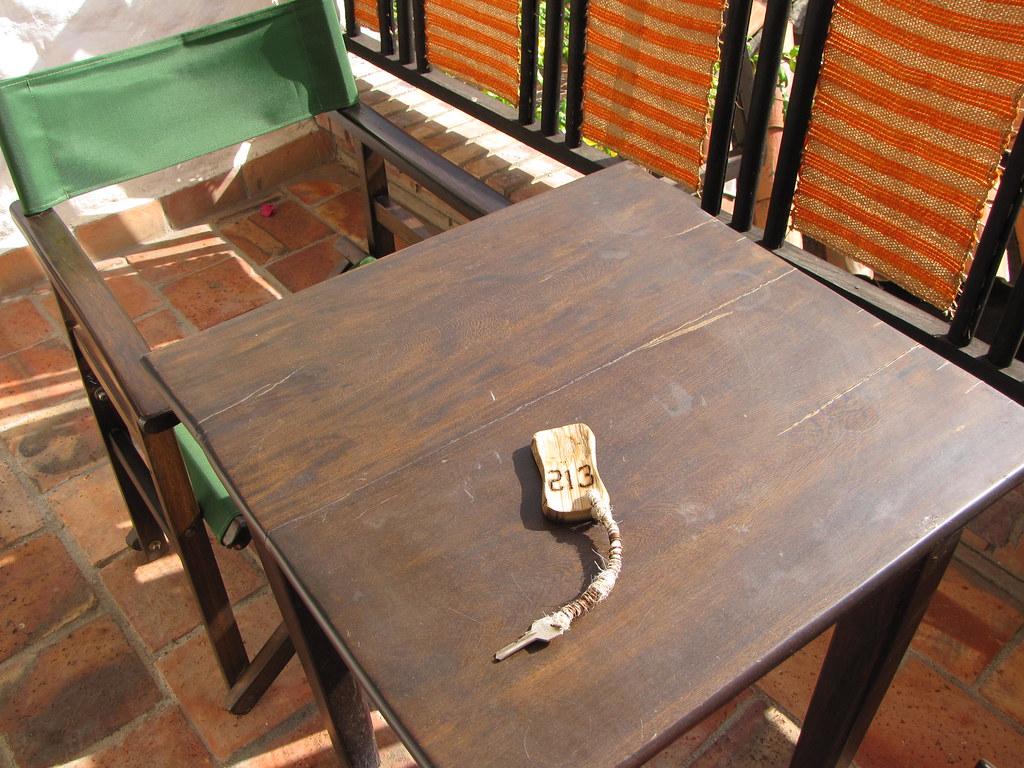 The key to the Meson Del Cuchicute Hotel