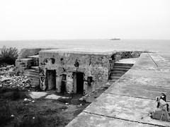 Battery Croghan, Fort San Jacinto, Galveston, Texas 0116101725bw (Patrick Feller) Tags: galveston concrete gun texas coastal artillery defense emplacement fortsanjacinto batterycroghan endicottperiod