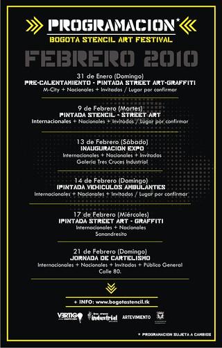 Programación Febrero (by Bogotá Stencil Festival)