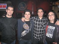Gonzalo, Carlos Garci, Pedro y yo en la Guanábana Jam