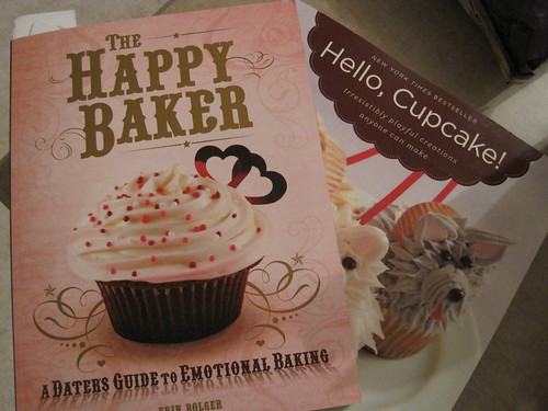 Two recipe books for baking