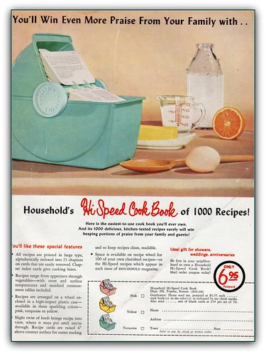 Hi-Speed cookbook Household magazine 1958