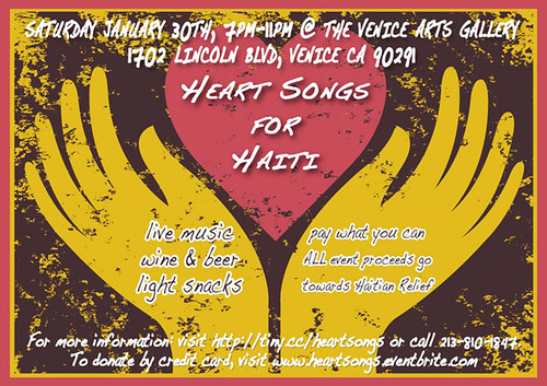 Venice Arts Heart Songs for Haiti