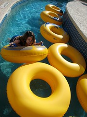 lazy river (brebro) Tags: sc pool yellow river myrtlebeach tubes lazy cheerios