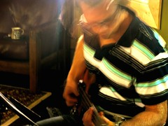 Tracking with the fretless 2 (ryland.haggis) Tags: studio drums bc bass drummer recording sessions abbotsford recordingstudio bassplayer electricbass rylandhaggis colinbullock furybass samheard anthembass