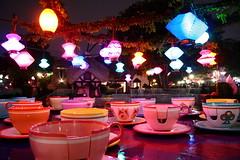 Cancelled (Mad) Tea Party (Legacy55) Tags: park night ride disneyland disney theme lantern teacup wonderland teaparty attraction fantasyland aliceinwonderland chineselantern madteaparty