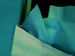 shopless in seattle (msdonnalee) Tags: blue bag paper aqua turquoise teal tissue minimalismo bluegreen shoppingbag minimalisme minimalismus artlegacy  photosbydonnacleveland ilfilodarianna displaybag