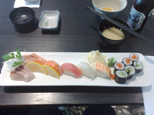 sushi & sashimi lunch set