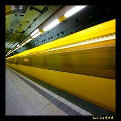 endless (sediama (break)) Tags: yellow germany essen metro pentax tube gelb ubahn nrw evag topseven altenessen mywinners colorphotoaward kaiserwilhelmpark sediama imgp9207 ©bysediamaallrightsreserved