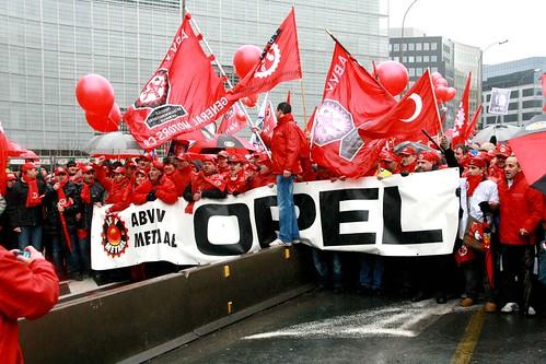 Belgique - Bruxelles - Manifestation pour l'Emploi du 29 janvier 2010.