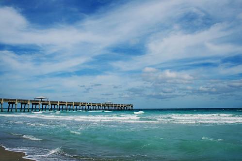 Juno Beach pier HDR