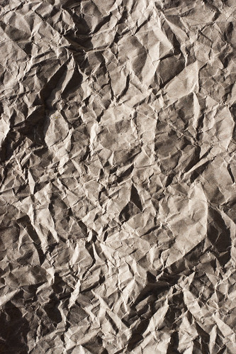 Texture: Crumpled Brown Paper